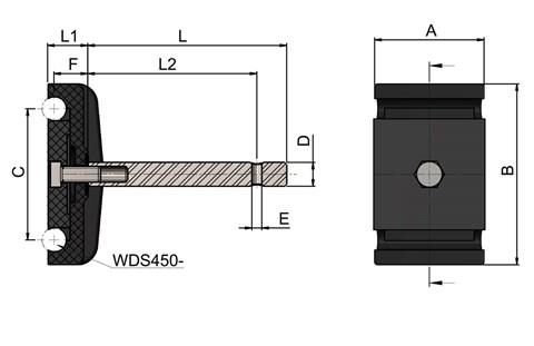Double Round Guide Rail Clamps (WDS 436)