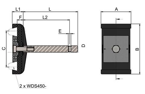 Double Cone Guide Rail Clamp (WDS 436)