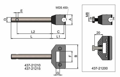 Adjustable Single Round Clamp With Rod (WDS 437)