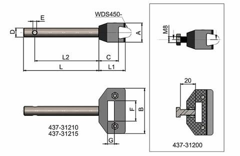 Adjustable Single Cone Clamp With Rod (WDS 437)
