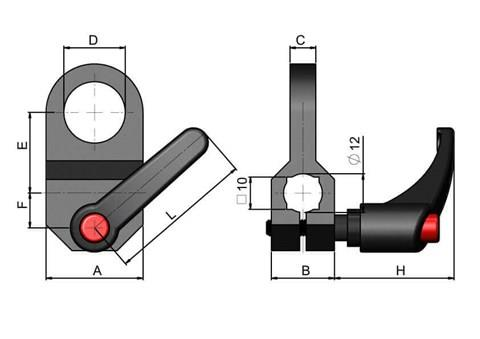Photocell Clamp - Quick Adjust Handle (WDS 438)