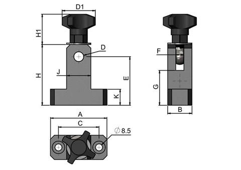 Plastic Mounting T-Clamp with Eye-bolt (WDS 440)
