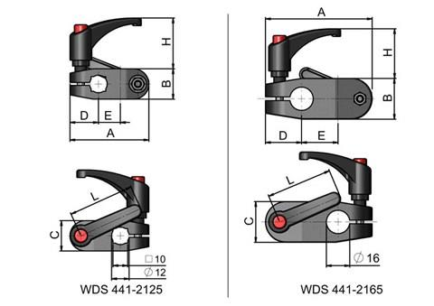 Cross Clamp with Quick Adjust Handles (WDS 441)