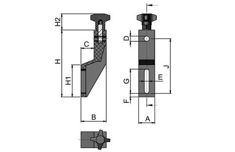Guide Rail Mounting Bracket (WDS 442)