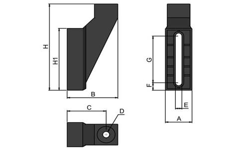 Adjustable Guide Rail Mounting Base (WDS 443)