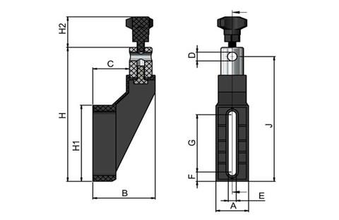 Adjustable Guide Rail Mounting Bracket with 304 Stainless Head (WDS 443)