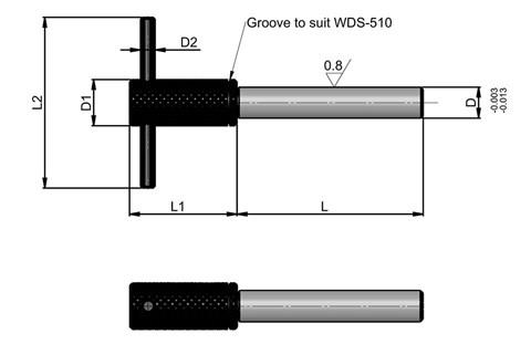 Removable Location Pin with Pull Bar- Metric (WDS 509)