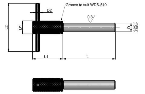 Removable Location Pin with Pull Bar - Inch (WDS 509)