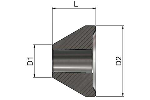 Large Tube Centres - 60 Degrees (WDS 5170)