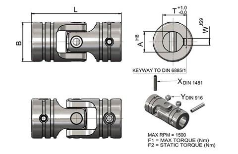 Plain Bearing Steel Universal Joint (WDS 553)