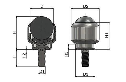 Ball Transfer Unit - Stem Fitting (WDS 568)