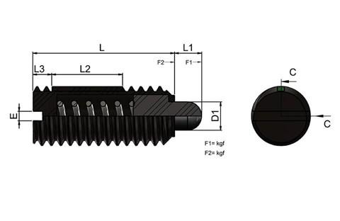 Light Force Spring Plunger with Thrust Pin and Long-Lok (WDS 606)