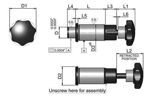 Indexing Plunger Parallel Non-Parking Type - Inch (WDS 647)