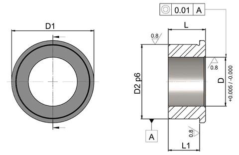 Index Plunger Bush Parallel - Metric (WDS 648)