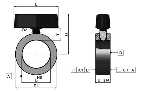 Set Collar with Clamping Wing Screw-Brass Tipped (WDS 650)