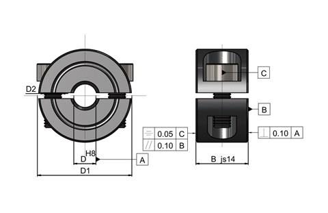 Double Split Shaft Collars (WDS 650)