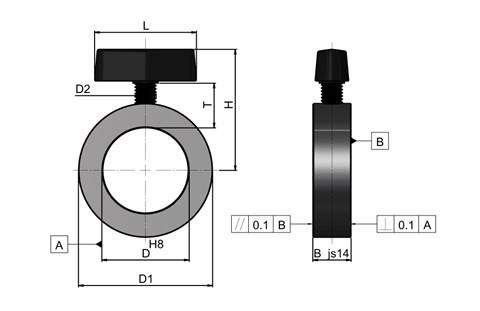 Quick-Release Shaft Collar with Clamping Wing Screw (WDS 650)