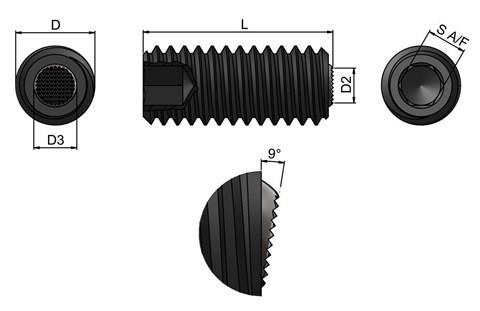Clamping Screw Pad - Serrated Face (WDS 652)