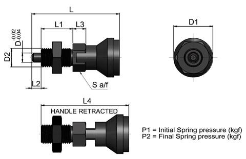 Spring-Loaded Indexing Bolt - Parking Type (WDS 654)