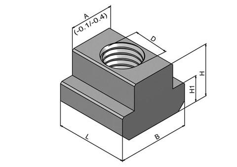 Metric T Nuts - 304 Stainless Steel (WDS 664)