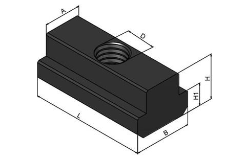 T-Nuts Extended - Steel - Chamfered (WDS 664)