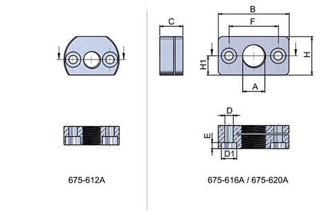 Vertical Mounting Bracket for Cam Action Indexing Plungers (WDS 675)
