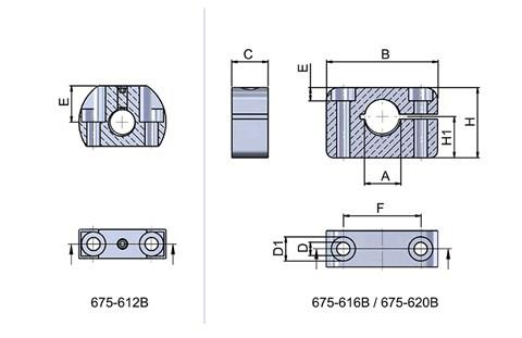 Horizontal Mounting Bracket for Cam Action Indexing Plungers (WDS 675)