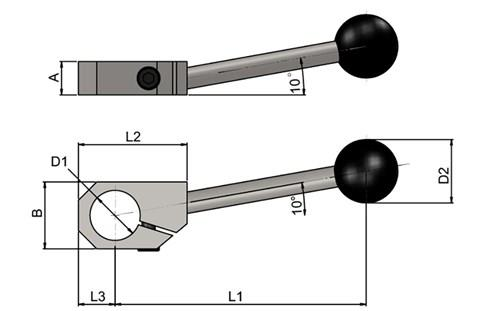 Clamping Handle (WDS 6821)