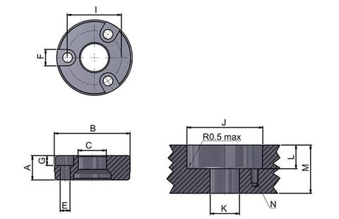 Bolt-in Recessed Bush (WDS 7120)