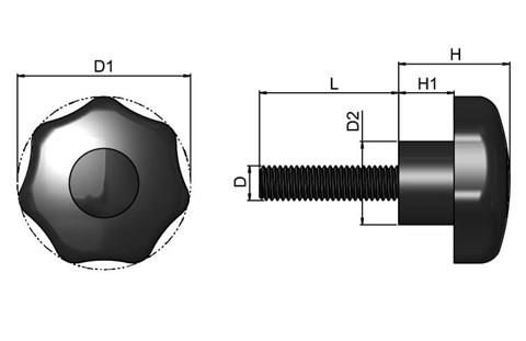 Multiple Lobe Hand Screw - Thermoplastic (WDS 8161)