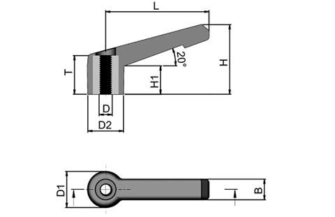 Clamping Lever - Glass Fibre Reinforced Plastic (WDS 8162)