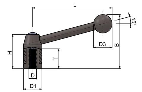 Indexing Lever with Ball Knob (WDS 8232)