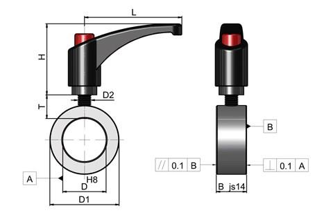 Quick Release Set Collar with Indexing Lever-Nylon Tip (WDS 827)