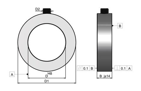 Set Shaft Collars - Stainless Steel (WDS 827)