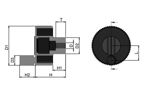 Positioning Wheel with Revolving Grip - Black Grey (WDS 8490)