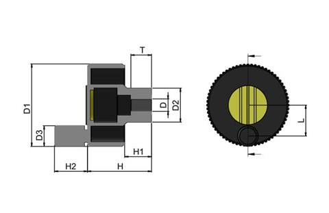 Positioning Wheel with Revolving Grip - Cadmium Yellow (WDS 8490)