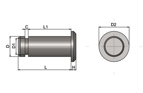 Clevis Pin - Stainless Steel (Use with DIN71752) (WDS 851)