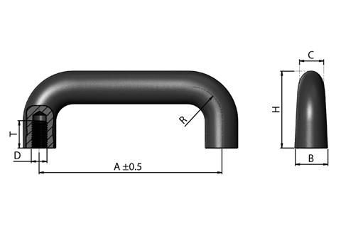 Cast Iron Handle (WDS 8529)