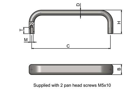 Bridge Handle - Oval Profile (WDS 8546)