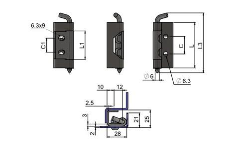 Concealed Hinges - Stainless Steel (WDS 8608)