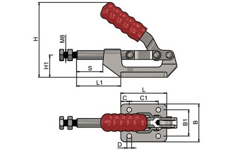 Push Pull Toggle Clamp with Alloy Steel Base (WDS 862)