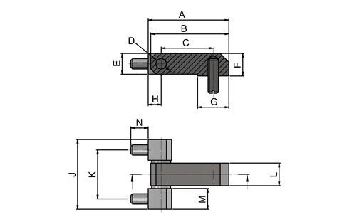 Corner Exposed Hinges - Steel Zinc Plated (WDS 8626)