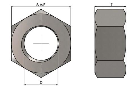 316 Stainless Steel Full Nut (WDS 875)