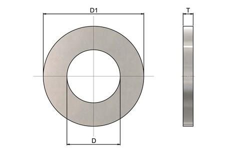 316 Stainless Steel Form 'A' Washers (WDS 876)