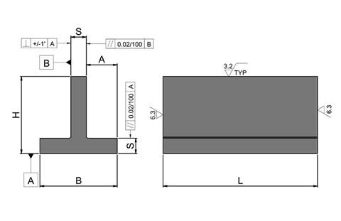 Equal T-Section - Cast Iron (WDS 917)