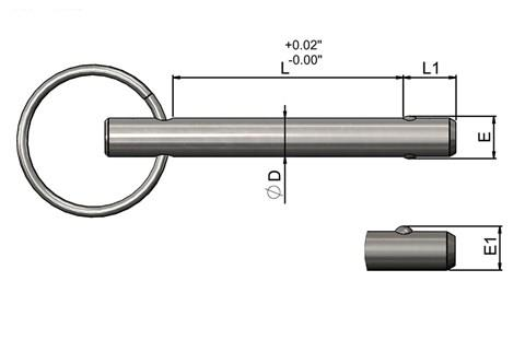 Detent Pins - 316 Stainless Steel - Imperial (WDS 957)