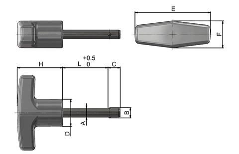 Detent Pins with Stainless Steel T-Knob Handle (WDS 960)