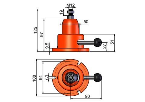 Hydraclamps Miniclamp Woodworking (SF-1200M)