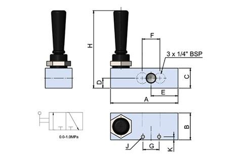 Hand Valve 3-2 Without Spring (SF-15030)