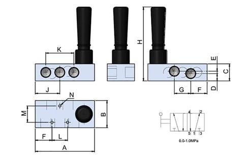 Hand Valve 5-2 With Spring (SF-15030)